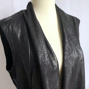 Topshop Jackets & Coats - Faux Leather Vest